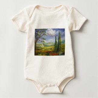 Toskana-Hügel-Dörfer Baby Strampler