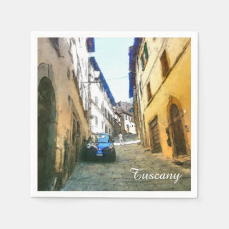 Toskana. Italien. Cortona. Papierserviette