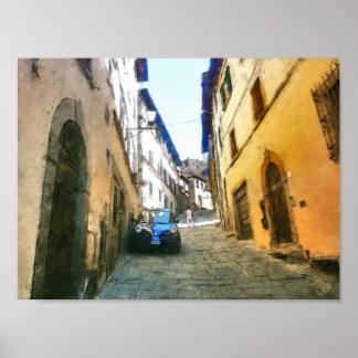 Toskana. Italien. Cortona. Poster