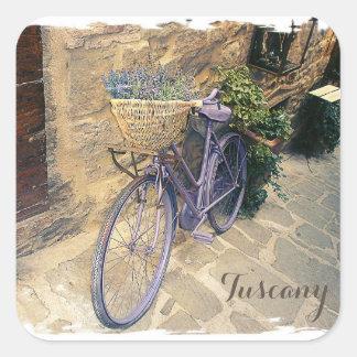 Toskana, Italien. Illustration Quadratischer Aufkleber