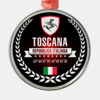 Toskana Silbernes Ornament
