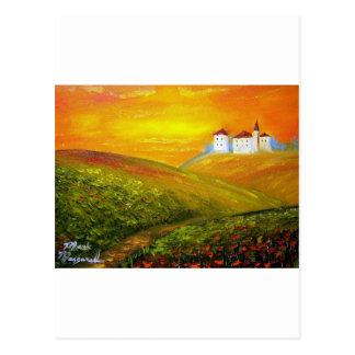 Toskana-Sonnenschein Postkarte