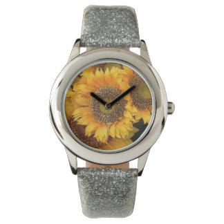 Toskanische Sonnenblumen Armbanduhr
