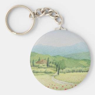 Toskanische Weinberge, Italien im Schlüsselanhänger