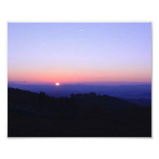 Toskanischer Sonnenuntergang Fotodruck