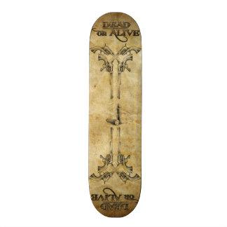 Tot oder lebendig personalisiertes skateboard
