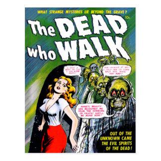 Tot wer Weg - Vintager Zombie-Horror Postkarte