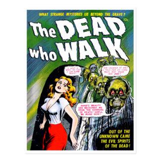 Tot wer Weg - Vintager Zombie-Horror Postkarten