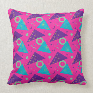 Total Achtzigerjahre Pink-Dreiecke geometrisch Kissen
