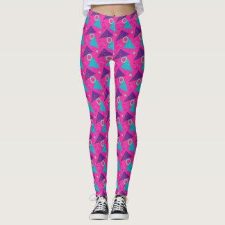 Total Achtzigerjahre Pink-Dreiecke geometrisch Leggings