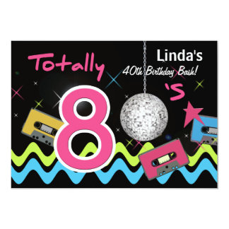 80er Party Einladungen | Zazzle.de, Einladung