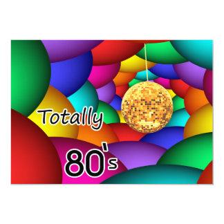 total Achtzigerjahre retro Party Einladung
