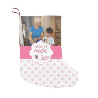 Total fabelhafte Oma mit rosa Tupfen Kleiner Weihnachtsstrumpf