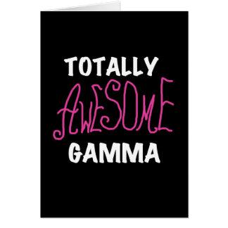 Total fantastische Gamma-Rosa-T-Shirts und Karte