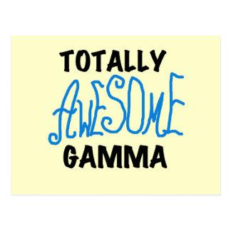 Total fantastisches Gamma-blaue T-Shirts und Postkarte