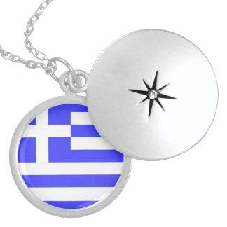 Griechische Flagge Halsketten  Zazzlede