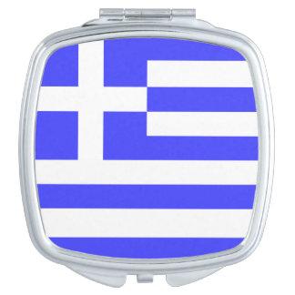 Total Flagge von Griechenland Taschenspiegel