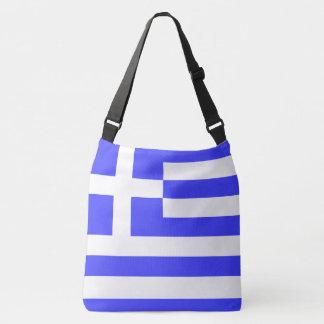 Total Flagge von Griechenland Tragetaschen Mit Langen Trägern