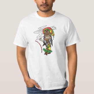 Total gechillter Rastafari mit Joint T-Shirt