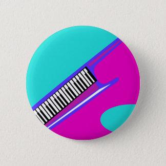 Total Neonachtziger jahre Keytar Runder Button 5,7 Cm
