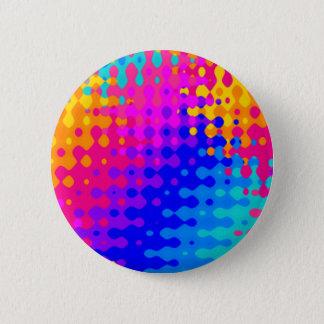 Total Trippy Hippie-Muster Runder Button 5,7 Cm