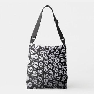 Tote bag with skulls tragetaschen mit langen trägern