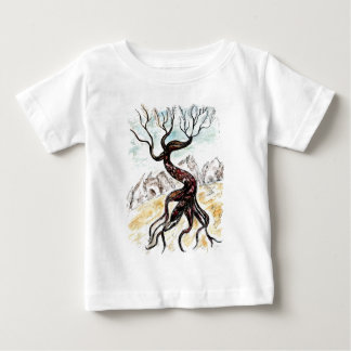Tote Baum-Skizze Baby T-shirt