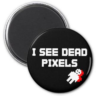 Tote Pixel Sarahs Marshall Runder Magnet 5,1 Cm