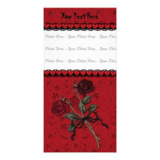Tote Rote Rose Bildkarten