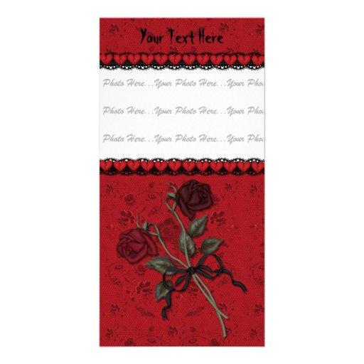 Tote Rote Rose Photo Karte
