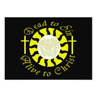 Tote Sin - lebendig zu Christus 12,7 X 17,8 Cm Einladungskarte