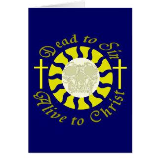 Tote Sin - lebendig zu Christus Grußkarte