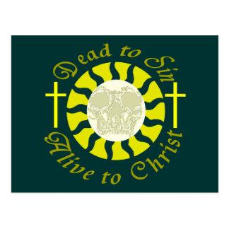 Tote Sin - lebendig zu Christus Postkarte