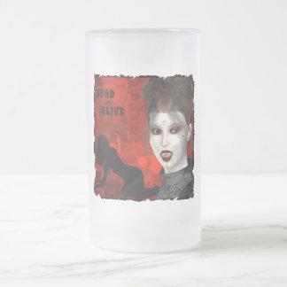 Tote sind - mattierter GlasStein lebendig Matte Glastasse