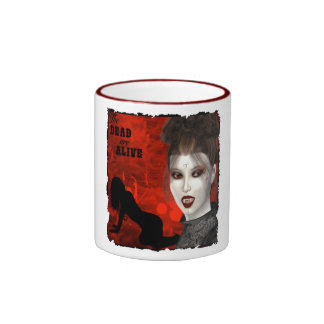 Tote sind - Wecker-Tasse lebendig Ringer Tasse