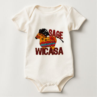 Totem-Pony Wicasa die weisen Geschenke Baby Strampler