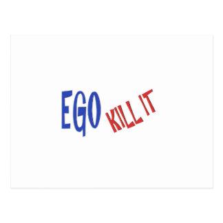 TÖTEN Sie DIE EGO-Klugheits-Textgraphiken Postkarte