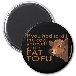 Töten Sie die vegane Kuh -, Vegetarier Runder Magnet 5,1 Cm