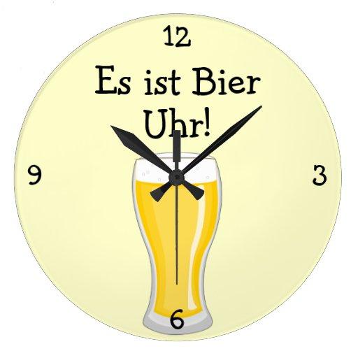 Totenbahre Uhr: Bier-Uhr Oktoberfest Spaß