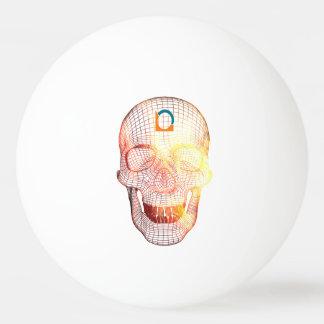 Totenkopf 3D färbt Tischtennis Ball