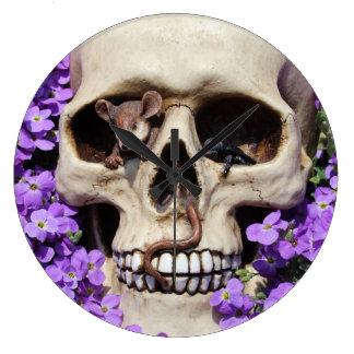 Totenkopf - Gothic / Wanduhr