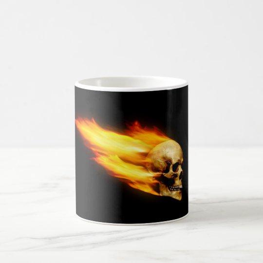 Totenkopf mit Flammen Kaffeetasse