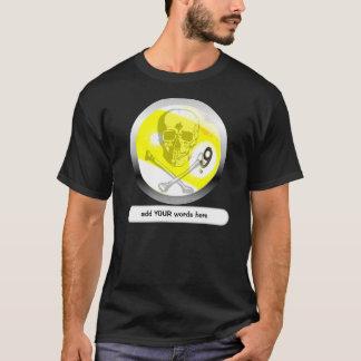 Totenkopf mit gekreuzter Knochen 9ball T-Shirt