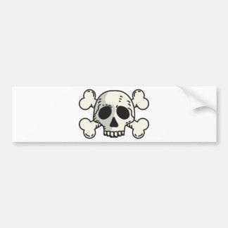 Totenkopf mit gekreuzter Knochen Autoaufkleber
