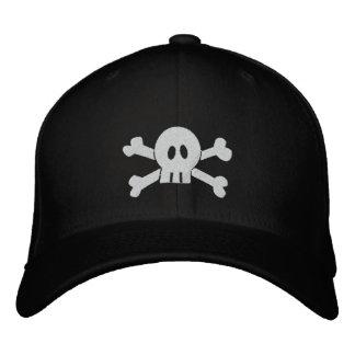 Totenkopf mit gekreuzter Knochen Bestickte Kappe