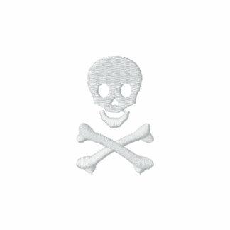 Totenkopf mit gekreuzter Knochen Besticktes Polo Shirt