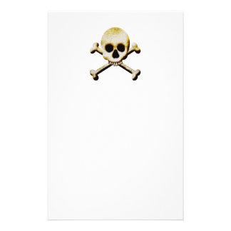 Totenkopf mit gekreuzter Knochen Briefpapier