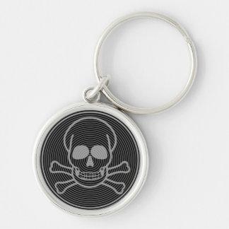 Totenkopf mit gekreuzter Knochen-Emblem Schlüsselanhänger