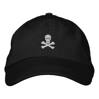 Totenkopf mit gekreuzter Knochen gestickter Hut Bestickte Baseballcaps