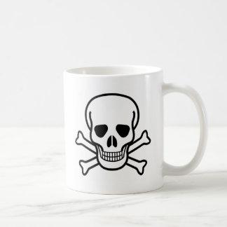 Totenkopf mit gekreuzter Knochen Kaffeetasse